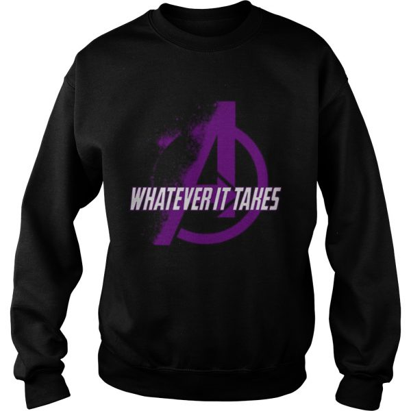 Marvel Avengers Endgame whatever it takes violet logo sweat shirt