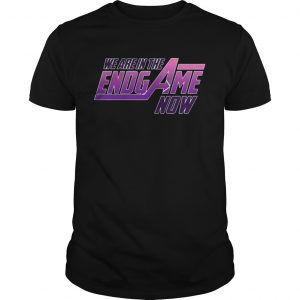 Official We Are In The Endgame Now guy shirt