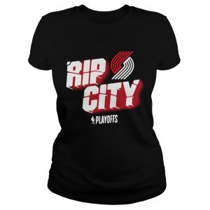 Portland Trail Blazers 2019 NBA Playoffs Rip city ladies shirt