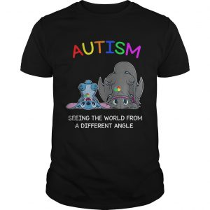 Stitch and Toothless Autism seeing the world from a different angle guy shirt