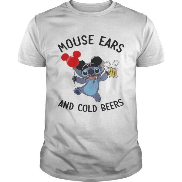 Stitch mouse ears and cold beers guy shirt