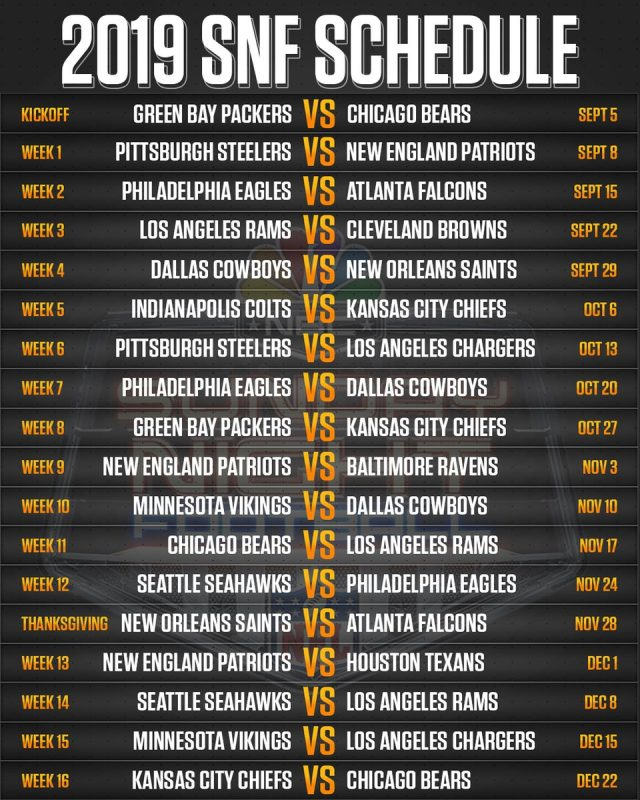The 5 NFL games most likely to be flexed out of 'Sunday Night Football'