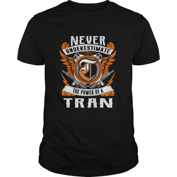 anever underestimate the power of the tran guy tshirt