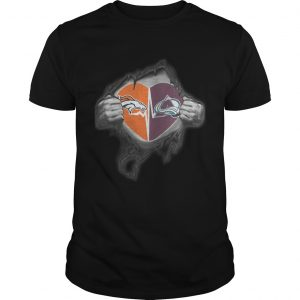 Broncos Avalanche Its in my heart inside me shirt