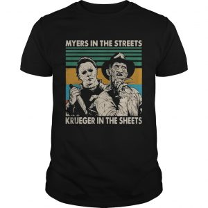 Myers in the streets Krueger in the sheets vintage t shirt
