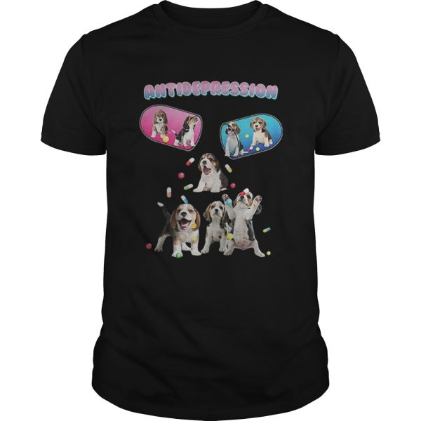 Antidepression cute beagles dogs shirt