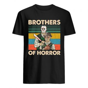 Brothers of Horror Jason Voorhees and Freddy Krueger vintage  Classic Men's T-shirt