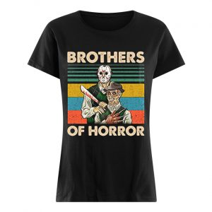 Brothers of Horror Jason Voorhees and Freddy Krueger vintage  Classic Women's T-shirt