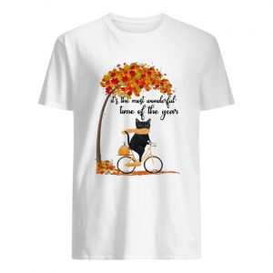 Cat riding bike it's the most wonderful time of the year  Classic Men's T-shirt