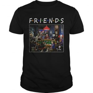 Friends Horror Halloween playing card shirt
