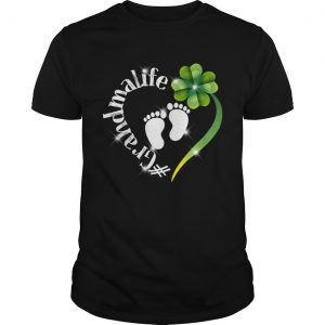Grandma Life Shamrock Heart St Patricks Day Shirt