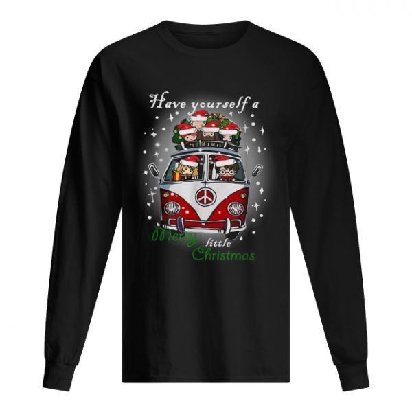 Hippie car Harry Potter have yourself a Merry little Christmas  Long Sleeved T-shirt