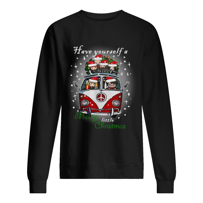 Hippie car Harry Potter have yourself a Merry little Christmas Unisex Sweatshirt