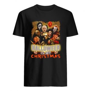 Horror characters Halloween is my Christmas  Classic Men's T-shirt