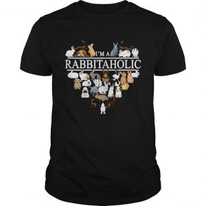 Im a Rabbit Aholic heart shirt