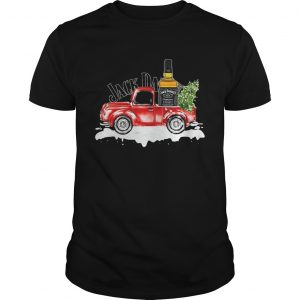 Jack Daniels Whiskey christmas truck shirt