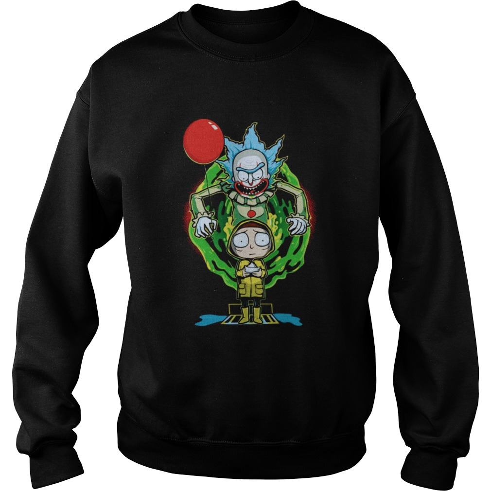 Pennywise IT Rick and Morty Halloween Sweatshirt