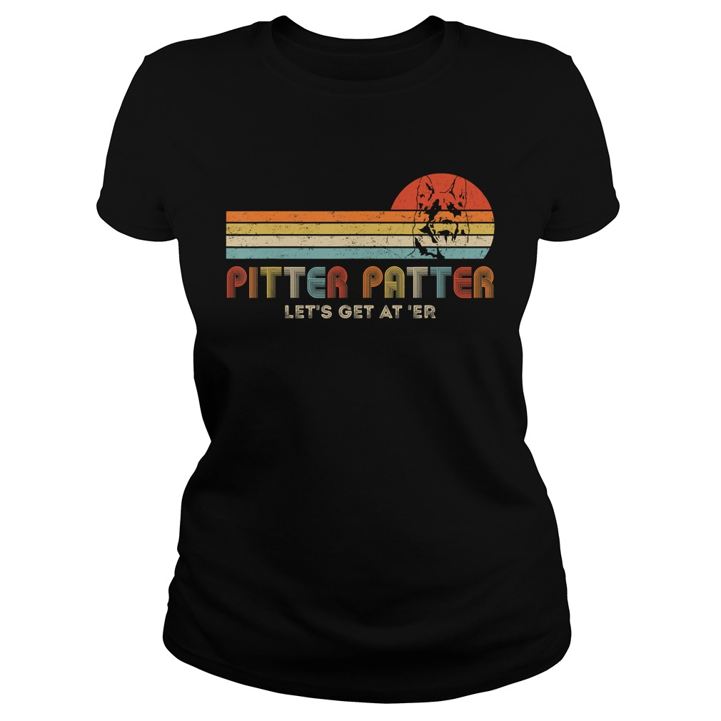 Vintage Pitter patter Lets get At Er Funny TShirt Classic Ladies