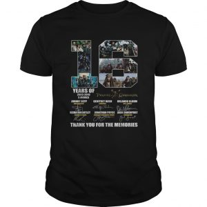 16 years of 2003 2019 5 movies Pirates of the Caribbean signature  Unisex