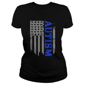 Autism Awareness American flag veteran  Classic Ladies
