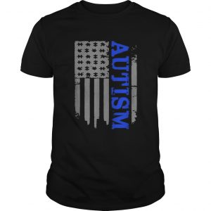 Autism Awareness American flag veteran  Unisex