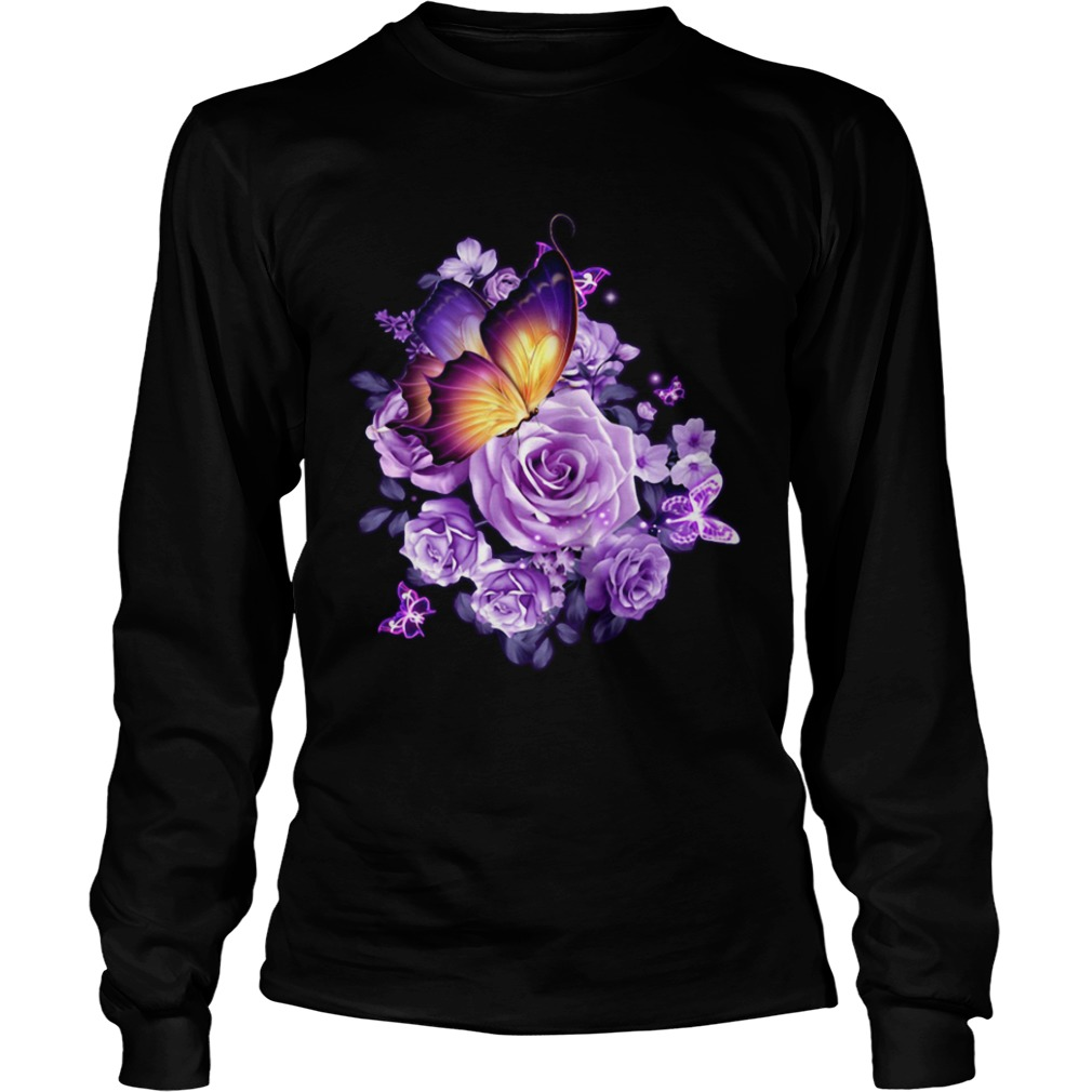 Butterfly purple rose LongSleeve