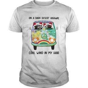 Cat Christmas On a dark desert highway cool wind in my hair  Unisex