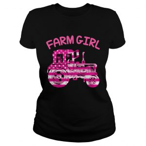 Farm Girl Pink Tractor Shirt Classic Ladies