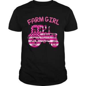 Farm Girl Pink Tractor Shirt Unisex