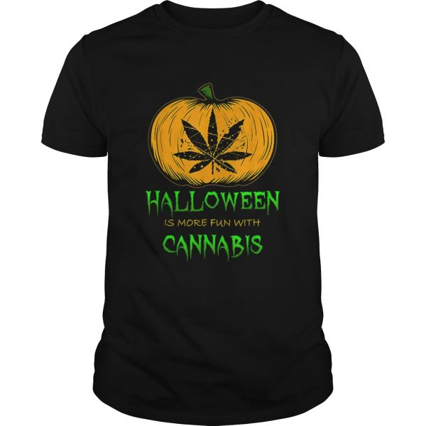 Halloween THC 420 Pumpkin Carving Stoner Cannibus Smoking  Unisex
