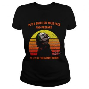 Joker put a smile on your face and prepare to live in the darkest moment sunset  Classic Ladies