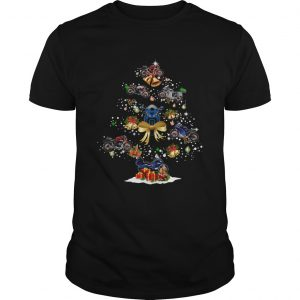 Motorcycle Christmas Tree Shirt Unisex