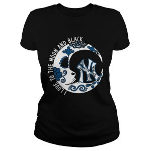 New York YanKees I love to the Moon and black Classic Ladies
