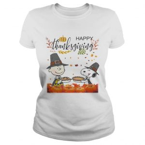 Charlie Brown And Snoopy Peanuts Happy Thanksgiving  Classic Ladies