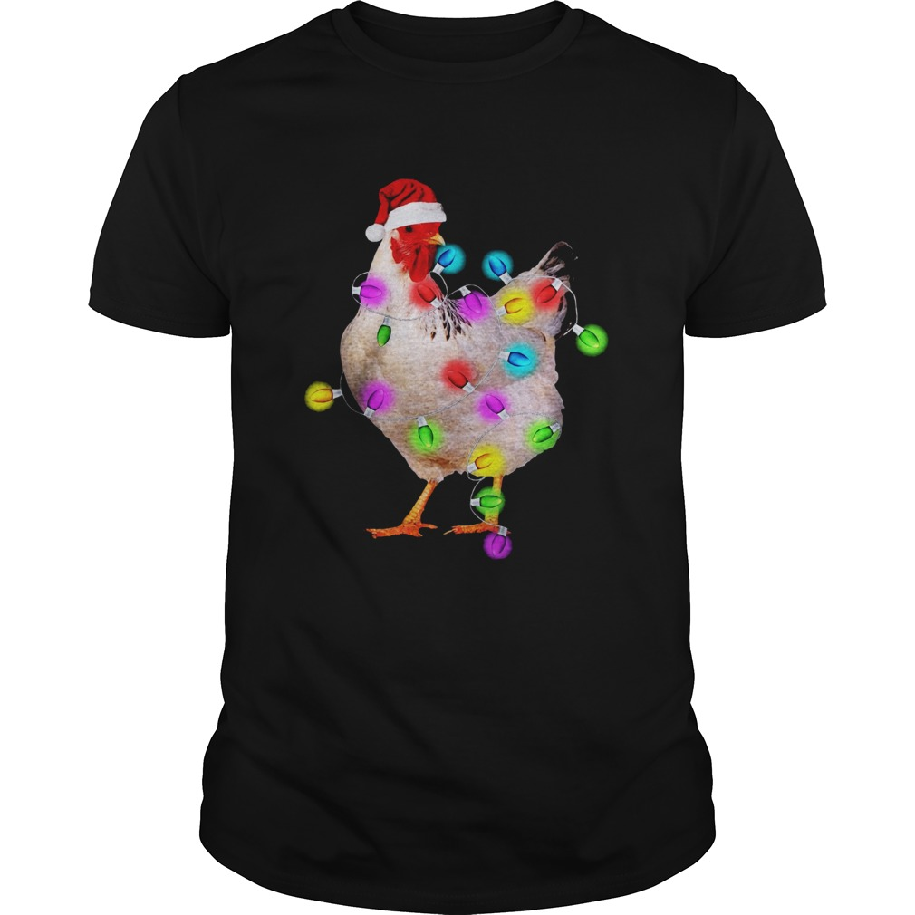 Chicken With Christmas Light Unisex