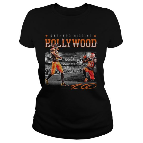 Cleveland Browns Rashard Higgins Holly Wood signature  Classic Ladies