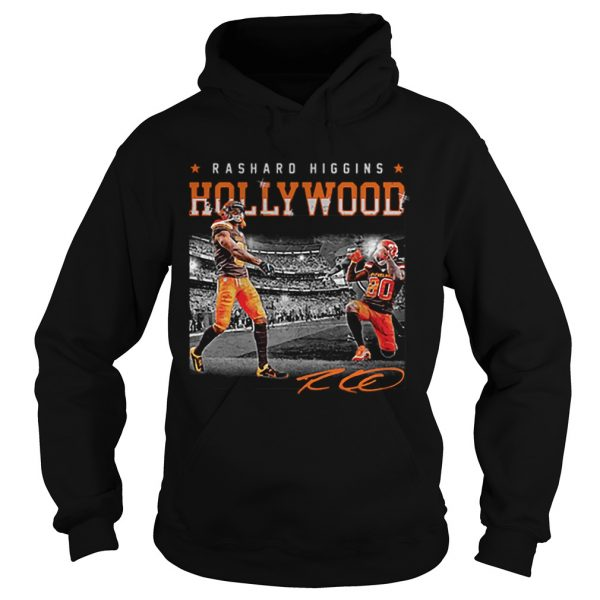 Cleveland Browns Rashard Higgins Holly Wood signature  Hoodie