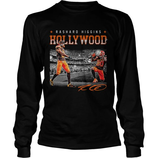 Cleveland Browns Rashard Higgins Holly Wood signature  LongSleeve