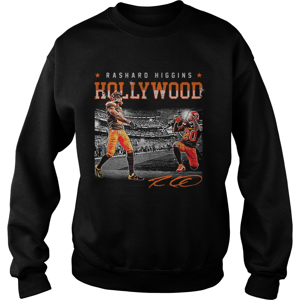 Cleveland Browns Rashard Higgins Holly Wood signature  Sweatshirt