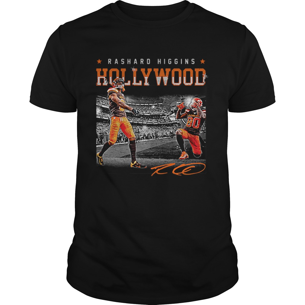 Cleveland Browns Rashard Higgins Holly Wood signature  Unisex