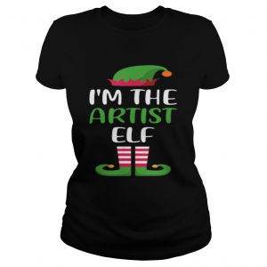 Hot Im The Artist Elf Matching Family Group Christmas  Classic Ladies