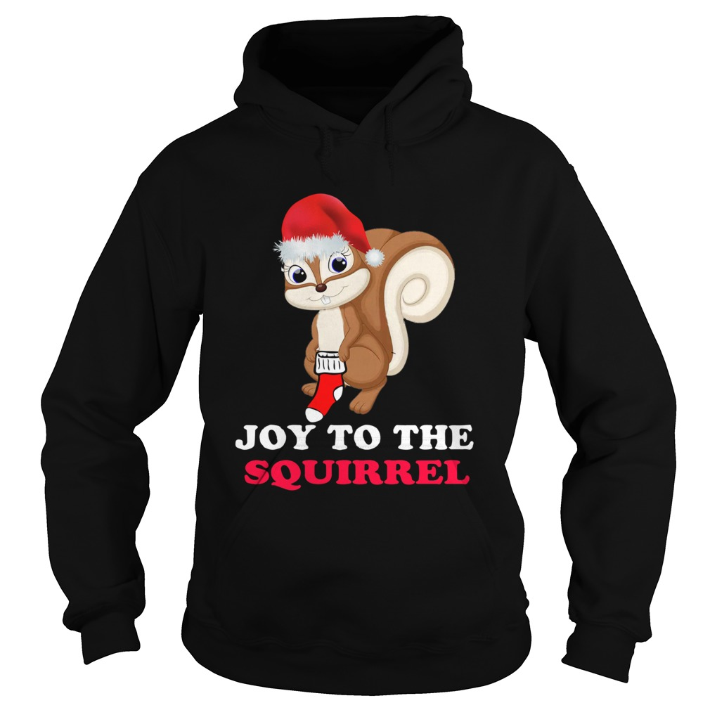 Joy To The Squirrel Christmas Hoodie