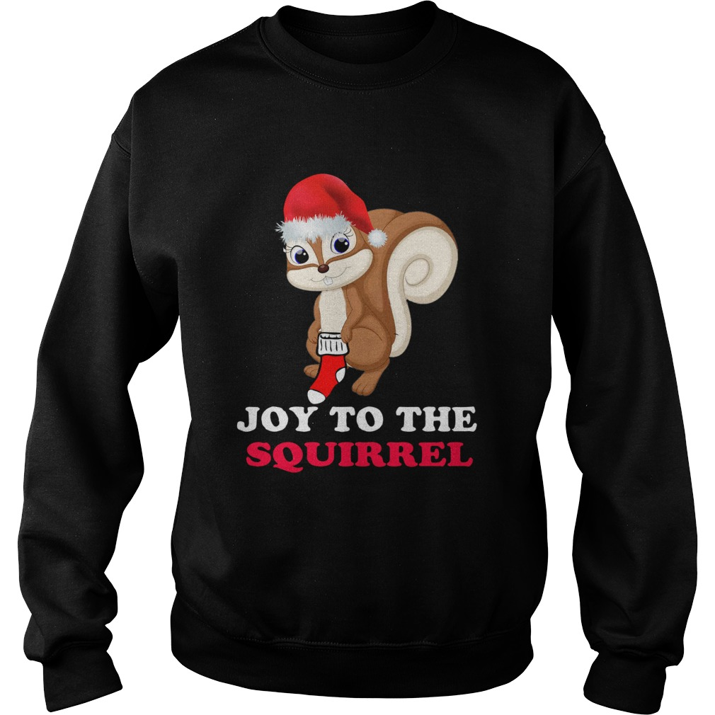 Joy To The Squirrel Christmas Sweatshirt