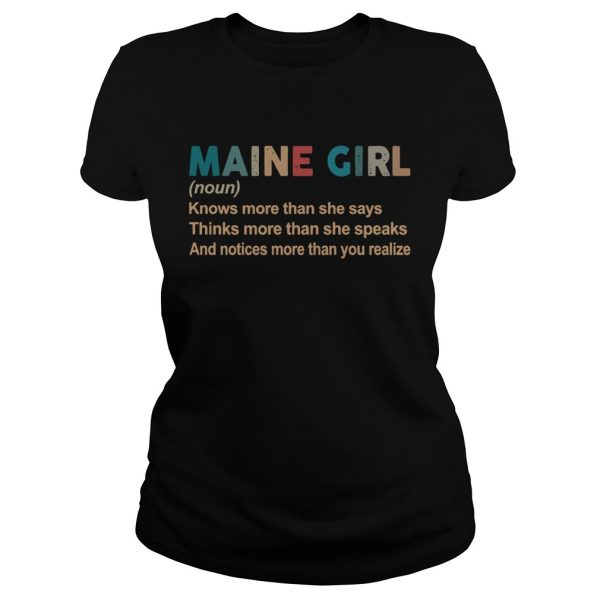 Maine girl definition knows more than she says think more than she speaks vintage  Classic Ladies