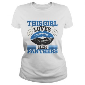 This Girl Loves Her Carolina Panthers Football Lips  Classic Ladies