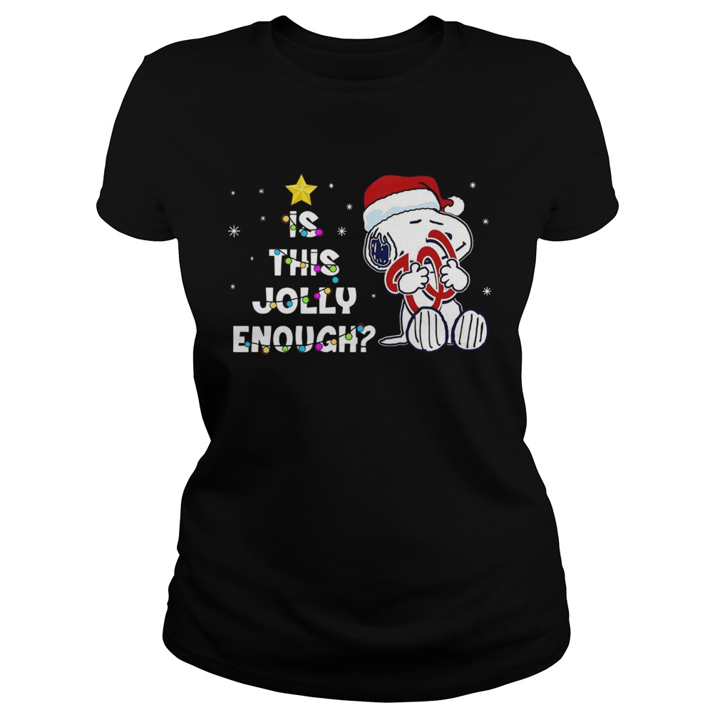 Washington Nationals Snoopy is this jolly enough christmas Classic Ladies