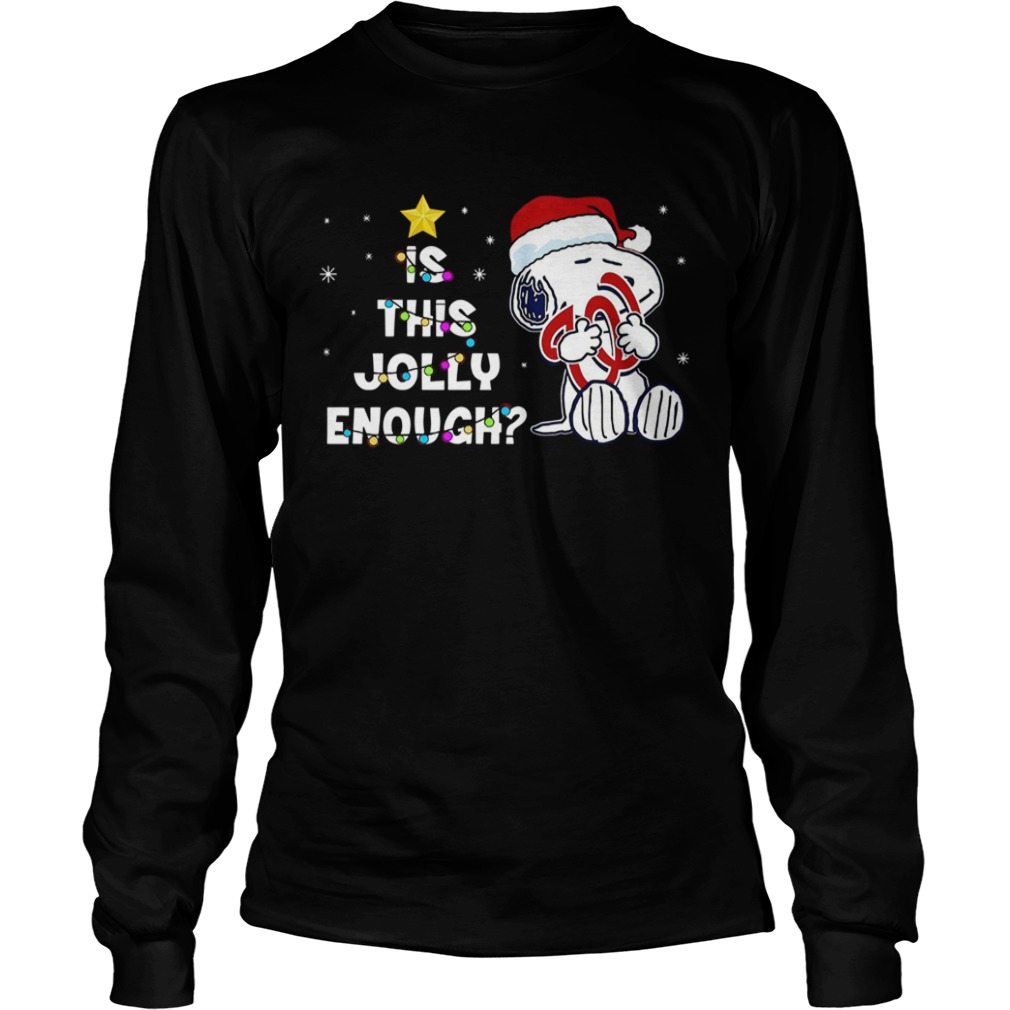 Washington Nationals Snoopy is this jolly enough christmas LongSleeve
