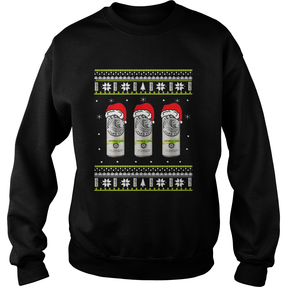 White Claw Natural Lime Ugly Christmas Sweatshirt