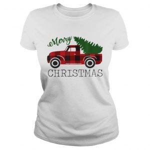 Merry Christmas Red Truck  Classic Ladies