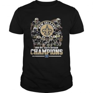 New Orleans Saints 2019 NFC south division Champions signatures  Unisex